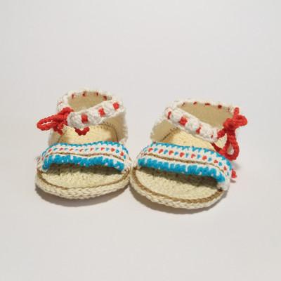 Sandaletti azzurri e rossi