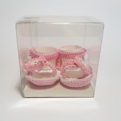 Sandaletti rosa con fiore