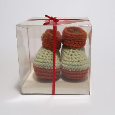 Crochet baby booties