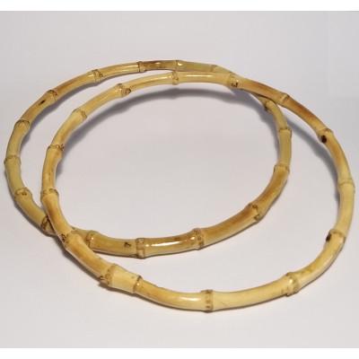 Round bamboo handles