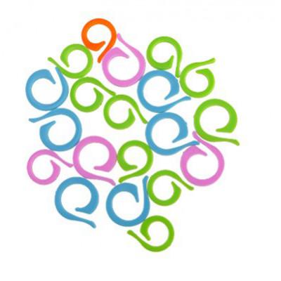 Spiral stitch markers