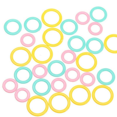 Colored stitch ring markers